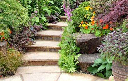 Лестница в саду: идеи — часть 1