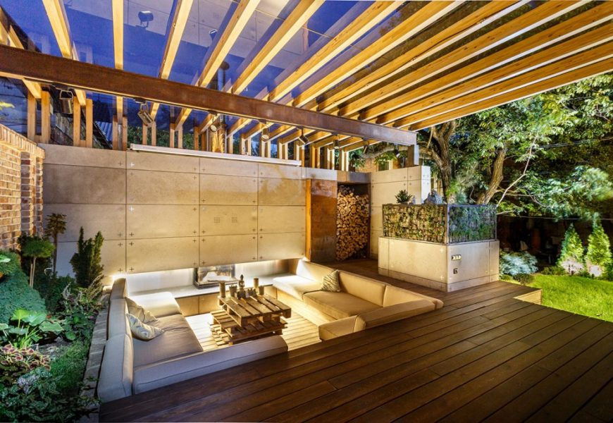 Патио во дворе — оригинальный проект луанж-зоны