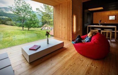 Компактный дом с видом на Альпы