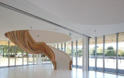 Дизайн лестницы в частном доме — 54 фото-идеи
