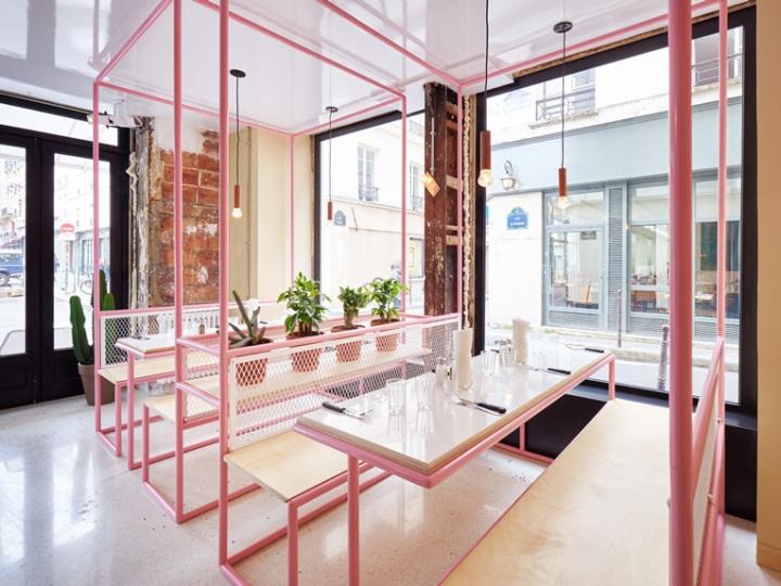 Ресторан быстрого питания — бирюзово-розовый рай