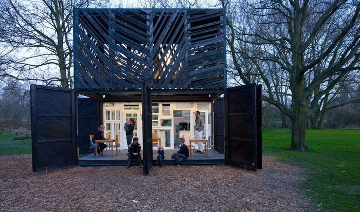 Кофе-бар в парке Амстердама