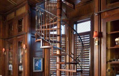 Винтовые лестницы в интерьере — плюсы и недостатки