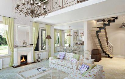 Стиль прованс в интерьере гостиной — часть 3