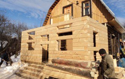 Теплая пристройка к деревянному дому
