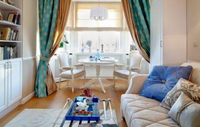 Класический дизайн маленькой квартиры в Москве
