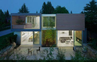 Дом с бамбуковым садом в Канаде