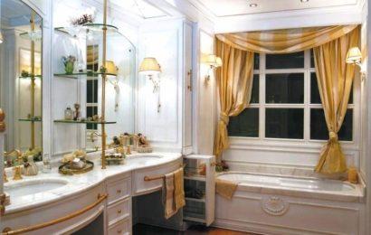 Классический интерьер ванной комнаты — фото
