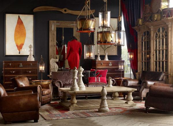 9 интерьеров гостиной в ретро-винтажном стиле