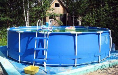 Как установить каркасный бассейн на даче на примере моделей от GRE
