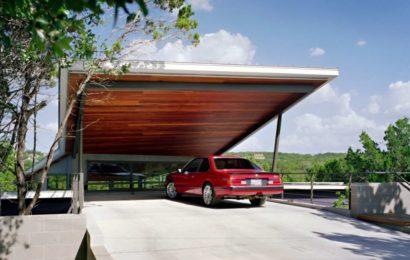 Открытая парковка под домом — фото-идеи