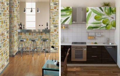 Декоративные возможности самоклеющихся обоев для кухни