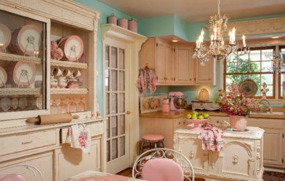 Как оформить кухню в стиле шебби шик?
