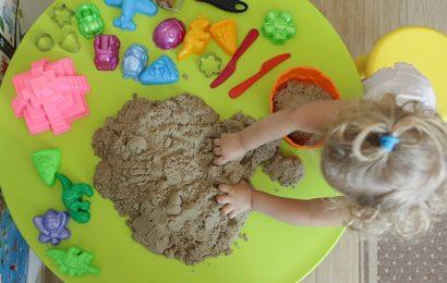 В чем плюсы кинетического песка?