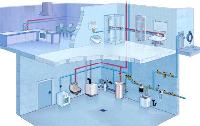 Монтаж труб водоснабжения и канализационных труб.