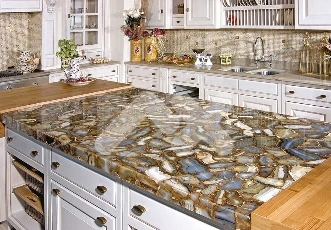 Какие материалы используются для изготовления кухонных столешниц