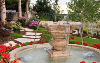 Декоративные фонтаны — простая и красивая конструкция
