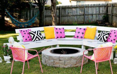 Как сделать садовую скамейку со спинкой своими руками