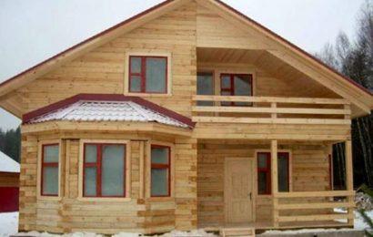 Строительство частного дома из бруса.