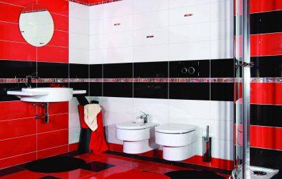 Ванная в красном цвете — сочетания, особенности оформления, советы