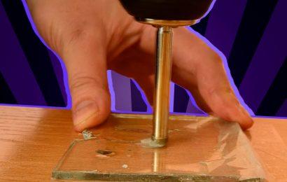Как выполнить отверстие в стекле