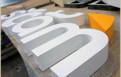 Объемные буквы из пластика – красота – прежде всего