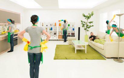 Уборка квартир, выполняемых клининговой компанией Проблеск